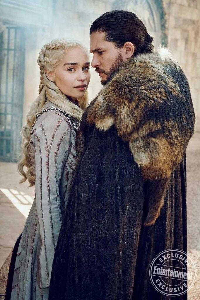 Game of Thrones Season photos Daenerys Targaryen and Jon Snow