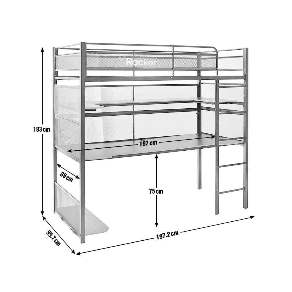 sample of steel loft bed plan